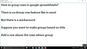Open Google Spreadsheet How To Group Rows In Google Spreadsheets Youtube
