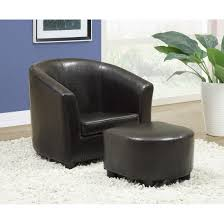 Living Room Chairs And Ottomans by Furniture Alluring Leather Chair And Ottoman For Cozy Home