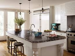 Standard Kitchen Counter Height by Ideas Awesome Formica Countertops With Wood Stools And Pendant