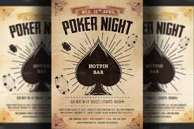 poker night flyer template flyer templates creative market