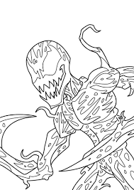 spectacular carnage lineart by gridalien on deviantart