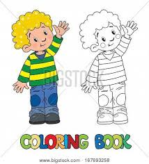 coloring book funny boy striped vector u0026 photo bigstock