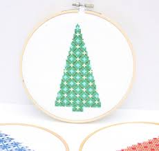modern tree cross stitch patterns do small things with