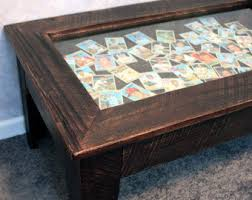 Glass Display Coffee Table Display Coffee Table With Glass Top Etsy