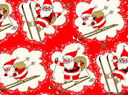 country christmas wrapping paper graphics santa skis alpinestyle56