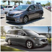 nissan family car 2016 toyota sienna vs nissan quest best minivans