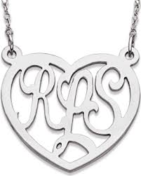 3 Initial Monogram Necklace Sterling Silver Incredible Deal On Elizabeth Edmonds Sterling Silver 3 Initial