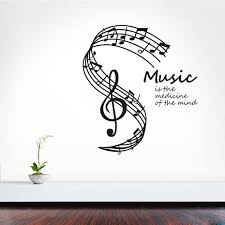 aliexpress com buy music is the medicine of the mind wall aliexpress com buy music is the medicine of the mind wall stickers musical notes stave home decor living room wall decals from reliable decoration living