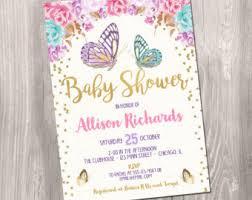 butterfly baby shower butterfly baby shower invitation etsy