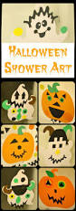 halloween shower art themed shower play for kids in lieu of