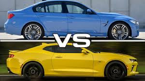 Bmw M3 Yellow 2016 - 2016 bmw m3 vs 2016 chevrolet camaro ss youtube