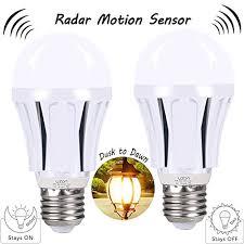 led light bulb with dusk to dawn sensor motion sensor led light bulbs 9w a19 e26 smart dusk to dawn radar