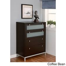 Metal And Wood Cabinet Furniture Of America Modern 4 Drawer Wood Metal Chest Free