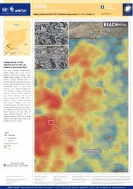 Damascus Syria Map by Damage Density Of Jobar Neighborhood And Irbin City Damascus