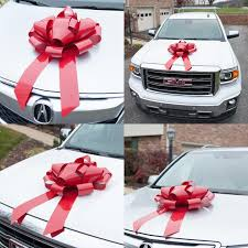 large gift bow big ribbon magnetic wrap car appliance present