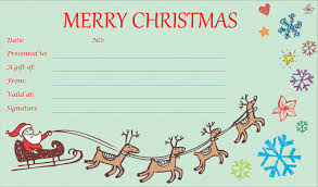 printable christmas gift vouchers christmas gift voucher templates for word inspirations of