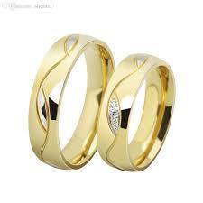 wedding ring price wholesale fashion cz diamond rings for men women 18k gold