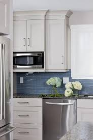 Linear Blue Glass Tile Backsplash Design Ideas - Linear tile backsplash
