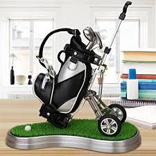 mini golf de bureau cadeau de golf mini golf porte stylo de bureau avec 3 jeux de golf
