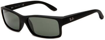 black friday sunglasses ray ban mens orb4151 622 rectangle sunglasses black rubber frame