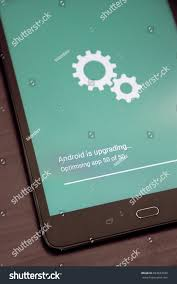 update android os android os installing system update on stock photo 684623338