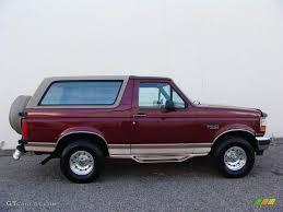 bronco car 1996 1996 toreador red metallic ford bronco eddie bauer 4x4 17497819