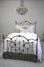antique white iron bed carie metal bed frame antique style