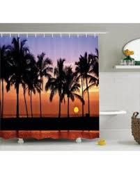 Hawaian Decorations Amazing Deal On Hawaiian Decorations Shower Curtain Set Hawaiian