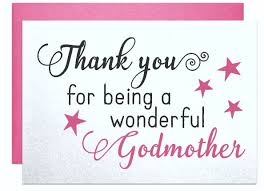 card for godmother gift note thank you for being a wonderful
