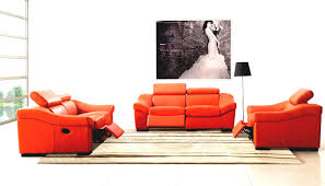 Living Room With Orange Sofa Size Of Sofa Living Room Modern Sets Leather Sofas For