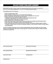 7 scholarship contract samples u0026 templates pdf doc