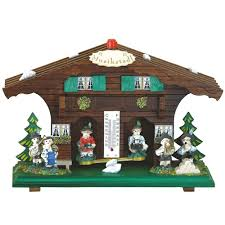 german wooden weather houses from black forest