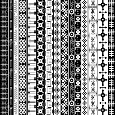 texture with ethnic geometrical ornaments black and white