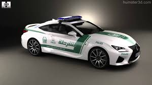 lexus sports car model lexus rc f police dubai 2015 by 3d model store humster3d com youtube