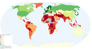 Proportional World Map by Broadband Speeds Around The World In One Map Vox