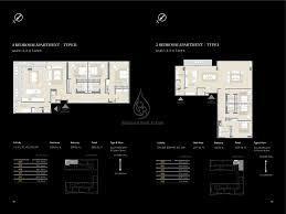 3 Bedroom Apartment Floor Plans Walk Jumeirah 3 Bedroom Apartment Type B1 Floor Plan