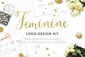 feminine logo design kit logo templates creative market