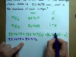 how to find the abundance of each isotope youtube