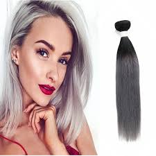 remy human hair extensions 1b grey ombre remy human hair extensions hair 3 bundle