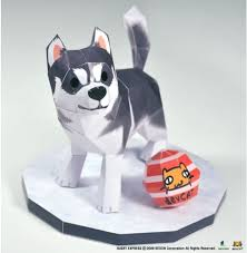 Origami Pets - devcat starts to release husky s origami series mmorpg news