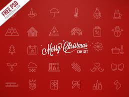 merry christmas icons free psd psdfreebies