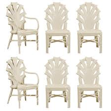 rattan dining room sets exceptional set of six vintage rattan dining chairs in cream