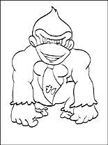 donkey kong coloring pictures free download