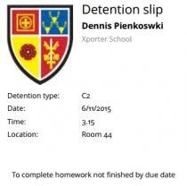 printable detention slips classcharts
