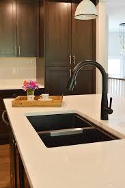how to open kitchen faucet tour our home open concept raised bungalow black kitchen