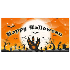 Halloween Banners by Bring Your Own Broom Halloween Party Banner Backdrop Decoration