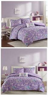 lavender purple elephant bedding for girls twin xl full queen
