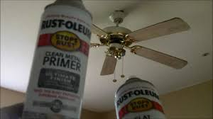 how to paint a ceiling fan ceiling fan project from golden 90 s to today wmv youtube
