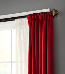Amazing Double Curtain Rod Design by Drapery Hardware 66 120 Room Darkening Double Deco Rod Joann