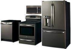 black and white appliance reno ge s new slate appliances sleeker than stainless steel and no